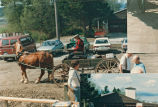 Books are transferred during move of Lopez Island Library, 1985