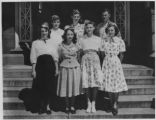 Group portrait, young 4-H women at conference, circa 1940's ?