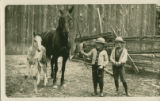 Avery & Bob Wilson with horse & colt, 1910