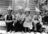 Kids on 'Tumble Inn' porch, c. 1939