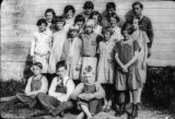 Center School, Upper Room students & teacher, 1928
