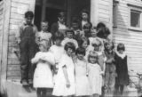 Center School students & teacher, 1924