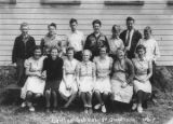 Center school students & teacher, 1940