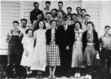 Lopez High School, students & teacher, 1935