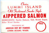 Anderson Reef Net Fisheries kippered salmon label