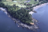 Carl Hanson aerial photography Lummi Island, Washington 1982