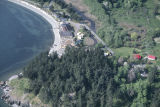 Carl Hanson aerial photography Lummi Island, Washington 1998