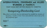 IFAWA Union Temporary Membership Card