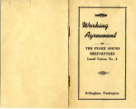 Working Agreement of the Puget Sound Reefnetters Local Union No. 4 booklet