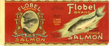 Flobel Brand Cohoe Salmon label, Lummi Bay Packing Co.