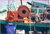 Head winch on reef net fishing boat