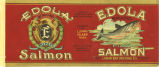 Edola Brand Pink Salmon label, Lummi Bay Packing Co.