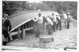 """Building a Reefnet Boat -- 1952"" photo album"