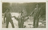 Successful fishing in the South Fork Nooksack River, circa 1918
