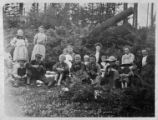 Group at Olympic Hot Springs, Clallam county, Washington