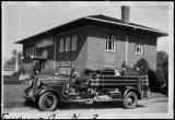 Port Angeles Library and fire truck 1