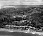 Aerial view of Clallam Bay, Washington