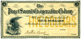 Puget Sound Co-operative Colony scrip, 1880's