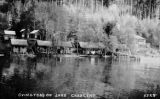Cabins at Ovington's Resort, Lake Crescent, lodge with dining room in distance