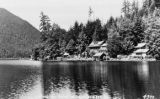 Ovington's Resort, view from Lake Crescent looking northwest