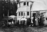 Marymere Hotel, Lake Crescent with people in front of bay window