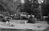 Rosemary Inn grounds and buildings, viewed from Lake Crescent