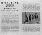 Ovington's Resort Ad