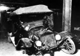 Automobile after wreck, License number 200-572, Olympic Peninsula, Washington
