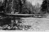 John Chapman's log bridge across North Fork Stillaguamish River, Washington