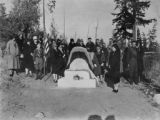 D.A.R. Capt. Vancouver monument dedication, Discovery Bay, Jefferson county, Washington 1929, 2 of...