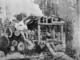 Donkey engine and crew, Simpson Logging Co., camp 3, Shelton, Washington