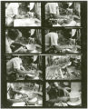 Contact sheet of images of Louis Mideke creating a piece on his potter's wheel, Bellingham,...