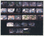 Color contact sheet of images from Louis Mideke's studio, Bellingham, Washington, circa 1975