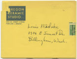 Oregon ceramic studio invitation 1952