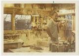 Mideke standing in his art studio, Bellingham, Washington, circa 1969