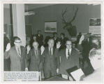 Ocean Shores Councilment, swearing in ceremony, November 1970