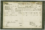 Adams County tax receipt, taxes for 1896