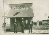 Lumber and real estate office in Odessa, WA