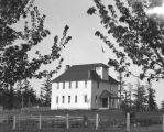 Eastsound School from Pike's orchard, 1914