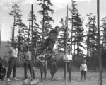 School sports, Ralph Bloxam pole vault, 1914