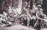 Civilian Conservation Corps road crew on Mount Constitution