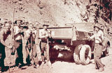 Dumptruck and 5 Civilian Conservation Corps men