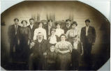 Ruark album: Charles and Rosalia Clayton Ruark family portrait, Pomeroy, Washington, circa...