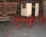 Horse drawn U.S. mail wagon
