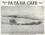 Pataha Cafe menu, Pataha, Washington, circa 1950-1959