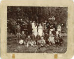 Philomathean School group, Sweeney Gulch, Washington, circa 1888-1889