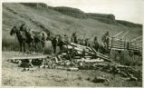 Hauling firewood, Valentine Ridge, Washington, October 1932