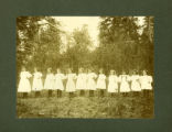 Peola School: little girls' drill team