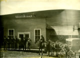 Gould City store and post office, 1909
