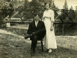 Charlie and Merle Davis, Wallowa County, Washington, circa 1915